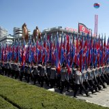 A parade for the 70th anniversary of North Korea's founding day in Pyongyang, North Korea, on September 9