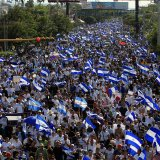 Demonstrators have protested against police violence  and the government of Nicaraguan President Daniel Ortega in Managua, Nicaragua this week.