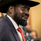 South Sudan's president attends peace talks at a hotel in Addis Ababa, Ethiopia on June 21.