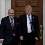 Rudy Giuliani (L) and Donald Trump