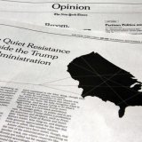 """The New York Times published an anonymous opinion piece titled """"I Am Part of the Resistance Inside the Trump Administration"""" on September 5."""