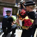 British security forces patrol Manchester, England, on May 22.