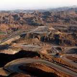 Iran's Sangan iron ore mine is located in Khaf County in Khorasan Razavi Province, about 300 kilometers southeast of Mashhad.