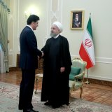Iran's President Hassan Rouhani (R) met with KRG Prime Minister Nechirvan Barzani in Tehran on Jan. 22, 2018. (File Photo)