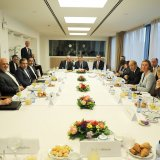 Iranian Foreign Minister Mohammad Javad Zarif met top European diplomats in Brussels on Jan. 11 to discuss the nuclear deal.