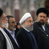 Hassan Rouhani visits the mausoleum of the late Imam Khomeini in south Tehran on May 23.