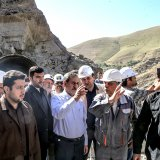 Construction Work  on Tehran-North Freeway Revs Up