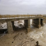 Flood waters destroyed the Muhammad Abad Earth Dam near Jahrom city, Fars Province.
