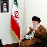 Leader of Islamic Revolution Ayatollah Seyyed Ali Khamenei receives Russian President Vladimir Putin in Tehran on Nov. 1.