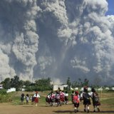 Villages Covered in Ash After Volcano Erupts in Indonesia