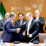 The signing ceremony was held in Tehran on Sunday in the presence of Iranian officials and those from Boeing.