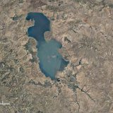 Years of mismanagement have taken a toll on Iran's water resources, such as Urmia Lake. Pictured above is Urmia Lake in 1984 (L) and 2016. (Photo: Google Earth/Landsat/Sentinel satellite system)
