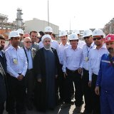 Facilities at the site of Yadavaran oilfield in Khuzestan Province on Nov. 13.