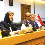 Croatian Minister of Economy Martina Dalic (L) met with CBI Governor  Valiollah Seif (2nd R) in Tehran on May 6.