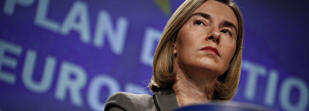 Mogherini:  Protecting EU Economic Interests No Mean Feat