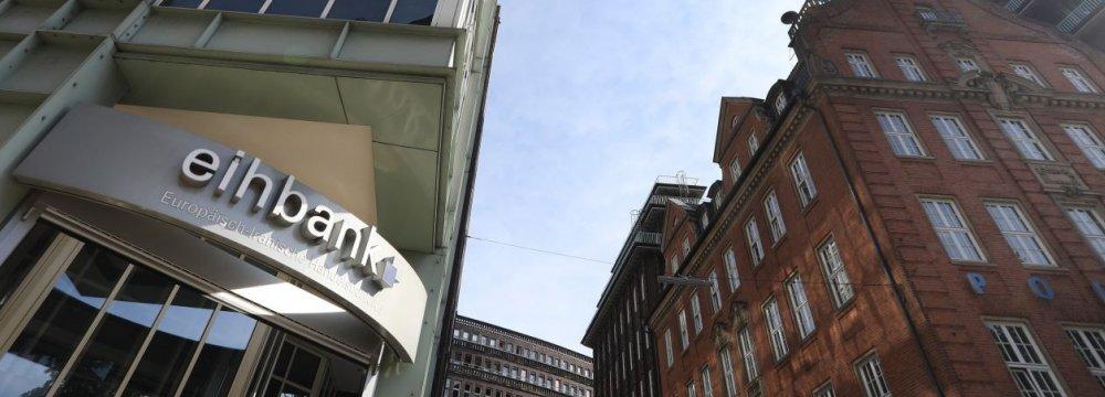The Europaisch-Iranische Handelsbank AG building in Hamburg.