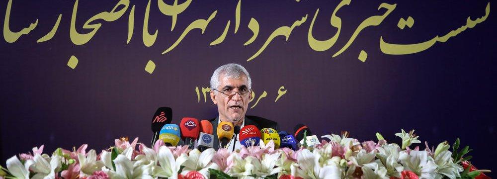 Tehran Mayor Outlines Development Plans