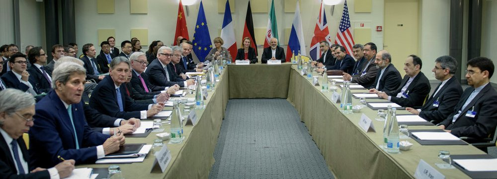 The nuclear deal was struck in 2015 between Iran and Britain, China, France, Germany, Russia  and the United States.