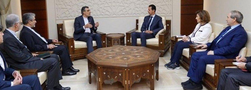 Assad Reaffirms Close Ties
