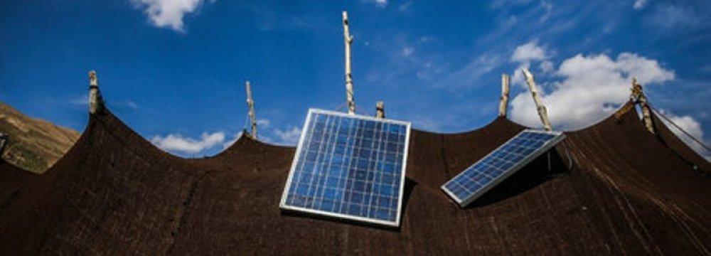 Solar Panels for Nomad Communities in Iran