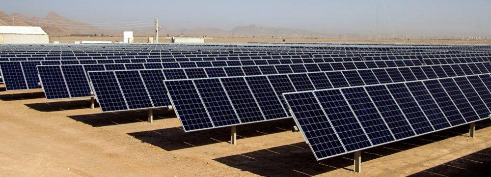 Iran: Solar Power Plant Equipment Indigenized