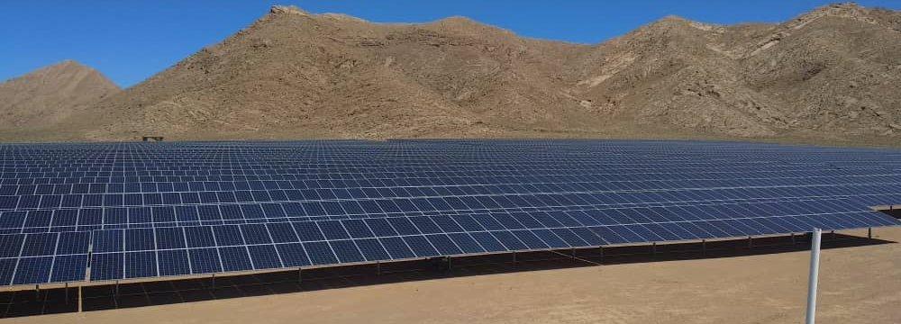 10 MW Solar Power Plant Opens in Iran's Fars Province