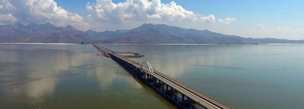 Urmia Lake Surface Area Expanding