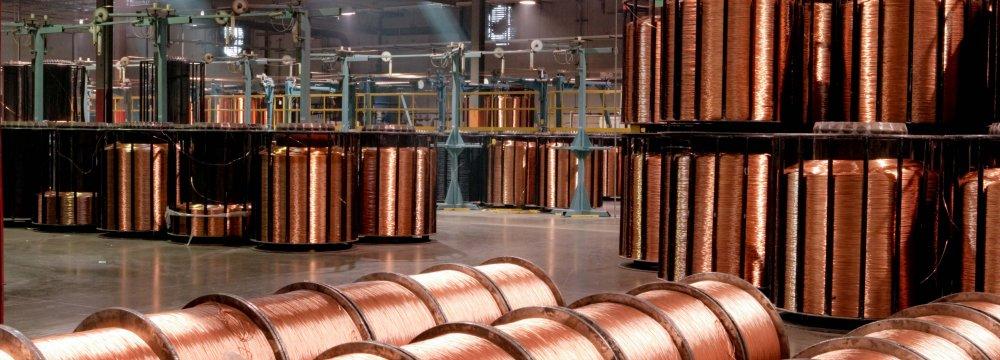 Downturn in Iran's Copper Production
