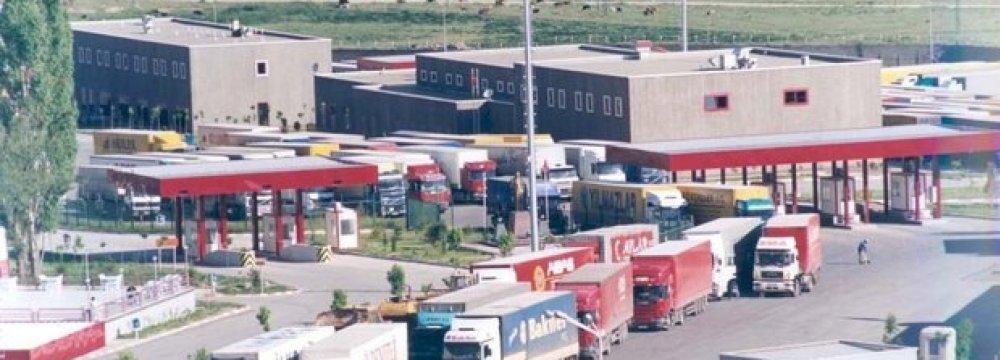 Truck Traffic Jams at Afghan Border Crossing