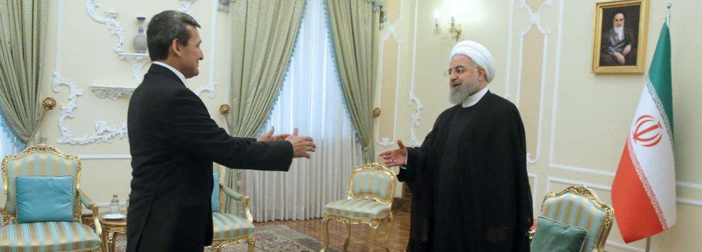 Turkmen Delegation in Tehran