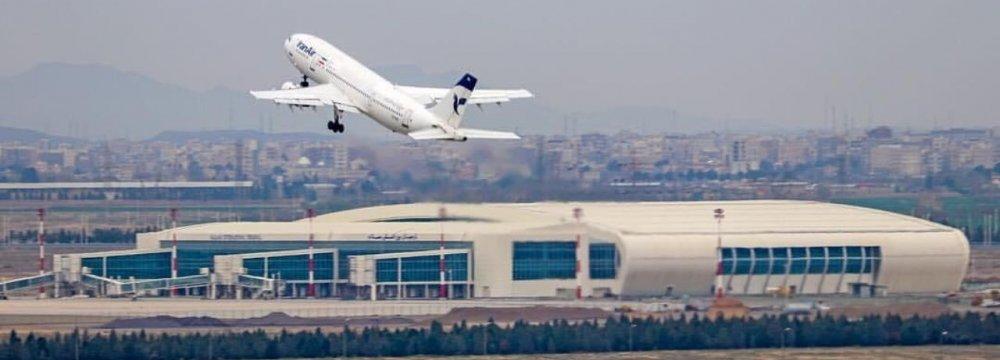 Iran Airport Traffic Halves