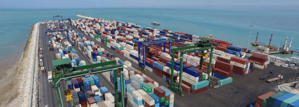 Rise in Bushehr Port Container Throughput
