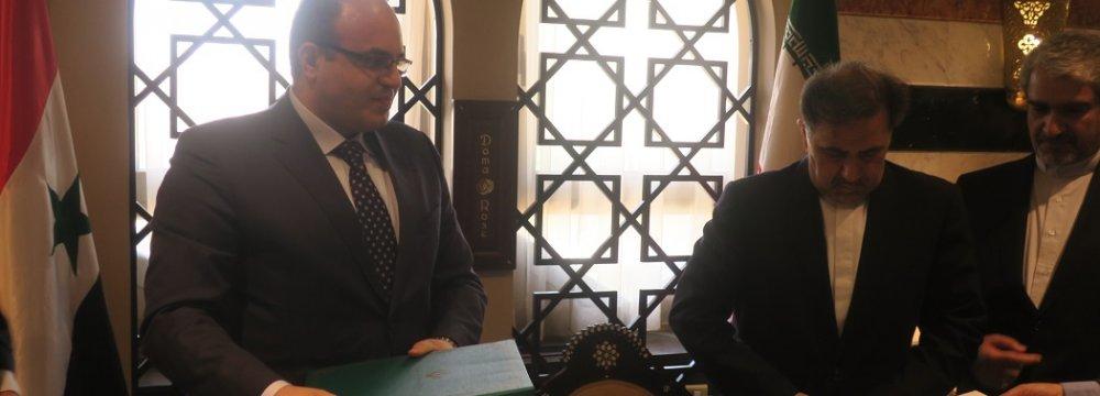 Iran, Syria Sign MoU for Strategic Economic Ties