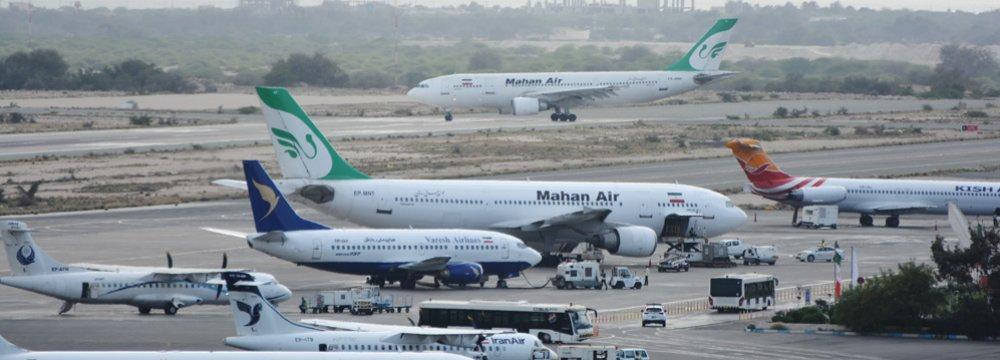 Growth in Kish Int'l Airport Traffic