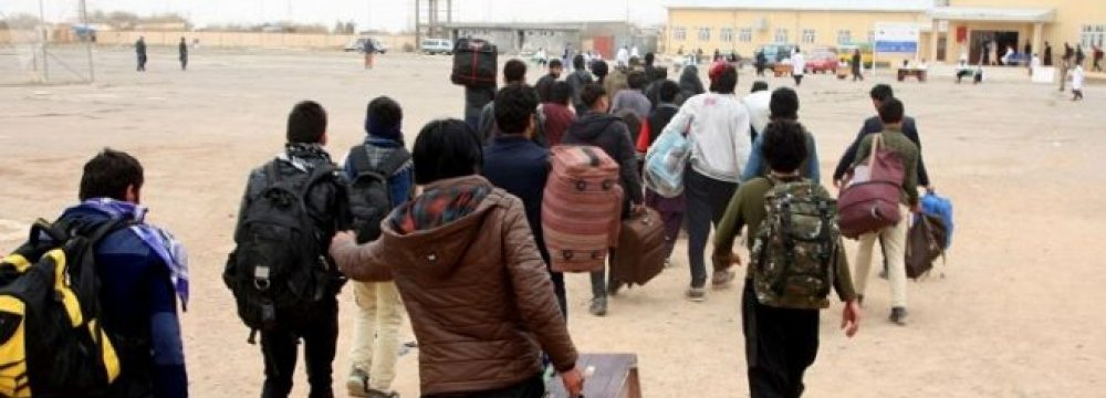 Afghan Returnees From Iran Hit Record High