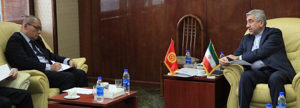Tehran, Bishkek Eager  to Expand Energy Ties