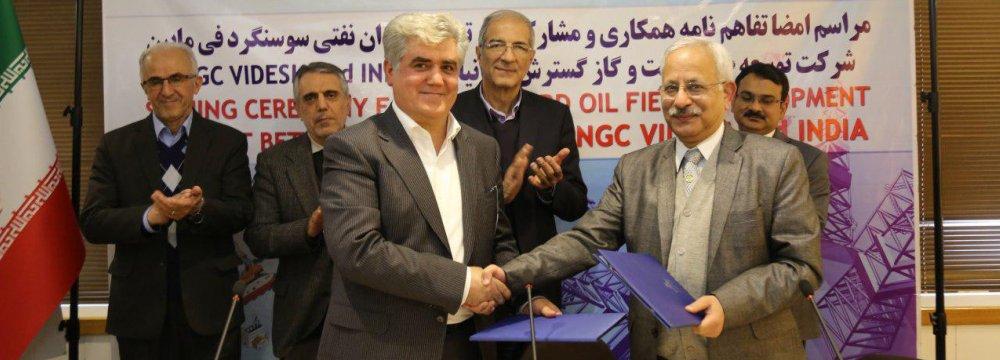 Indian ONGC Videsh,  IDRO Oil Sign MoU