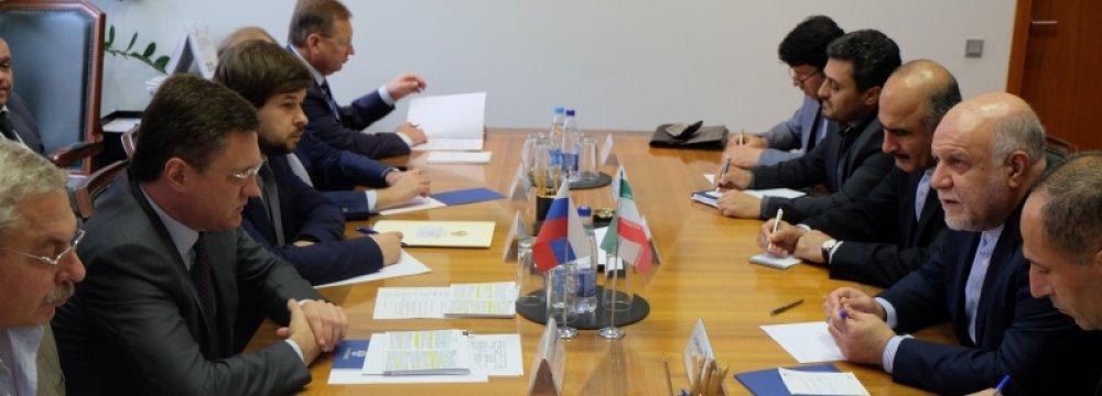 Zanganeh, Novak Discuss Energy Coop. in Moscow