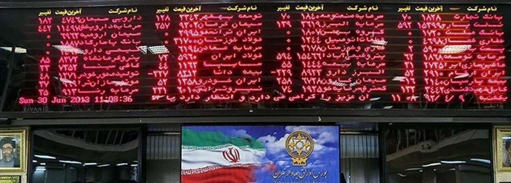 Tehran Stocks Exchange Closes Slightly Higher