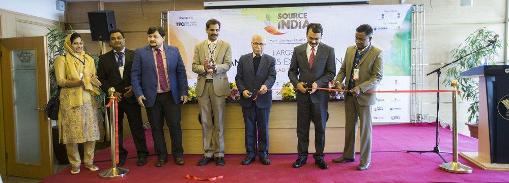 'Source India' opened in Tehran on March 10. (Photo: Peyman Norouzi)