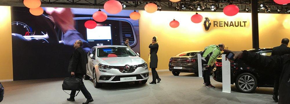 Megane was showcased during Tehran's International Auto Show in November 2017.