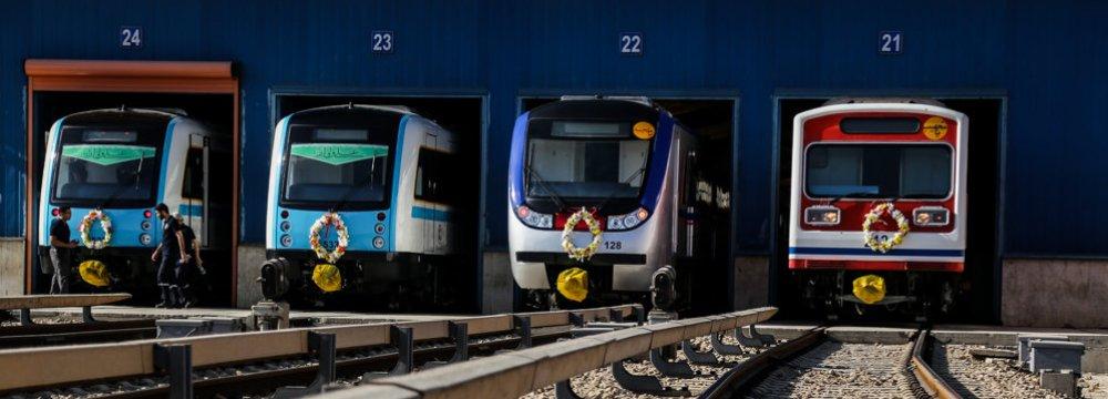 Tehran Subway Fleet to Induct 44 Cars