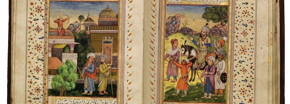 A sample of Sa'adi's Bustan/ Golestan's manuscript in nastaliq
