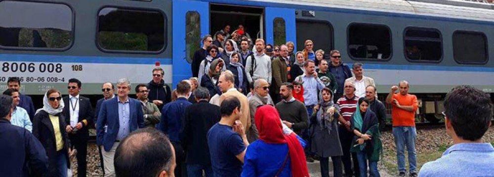 Tehran-Savadkouh is the first regular tourist railbus in Iran.