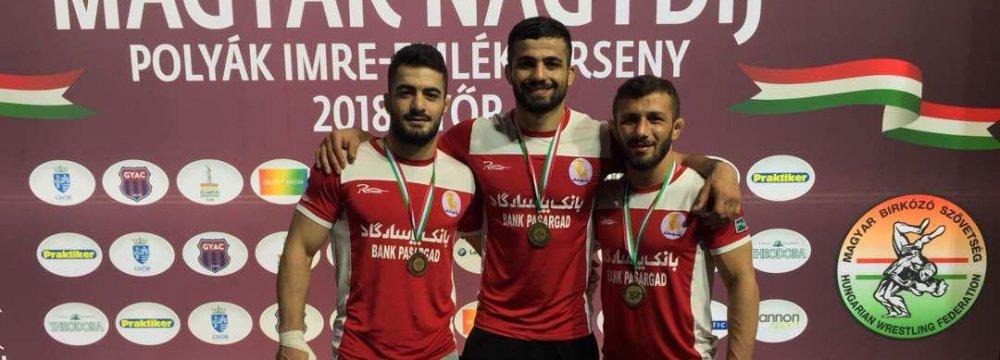 2 Gold, 1 Bronze in Greco-Roman Grand Prix in Hungary