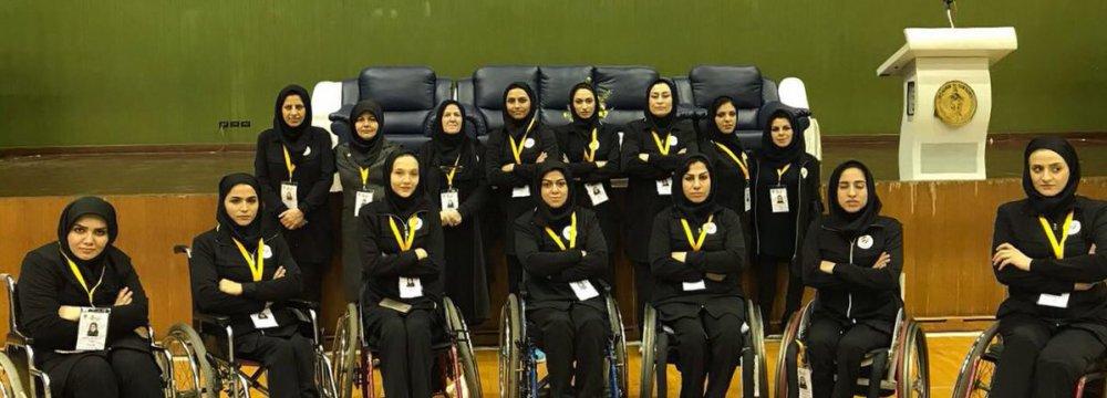 Iran's women wheelchair basketball squad