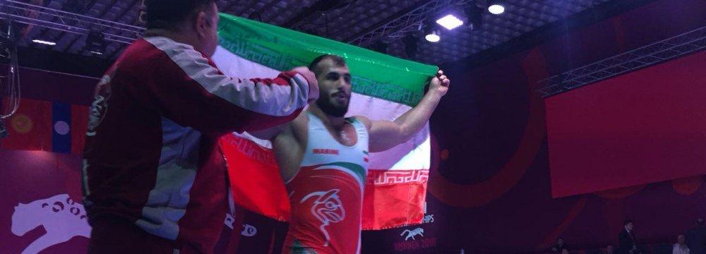 2 Gold, 2 Silver for Iran Greco-Roman Wrestlers