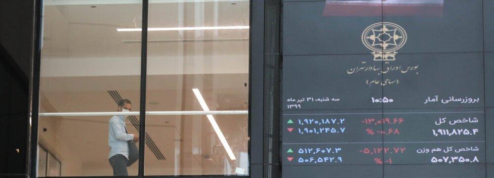 Tehran Share Market in Freefall0