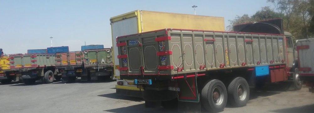Road Unworthy Commercial Vehicles Fined in Tehran