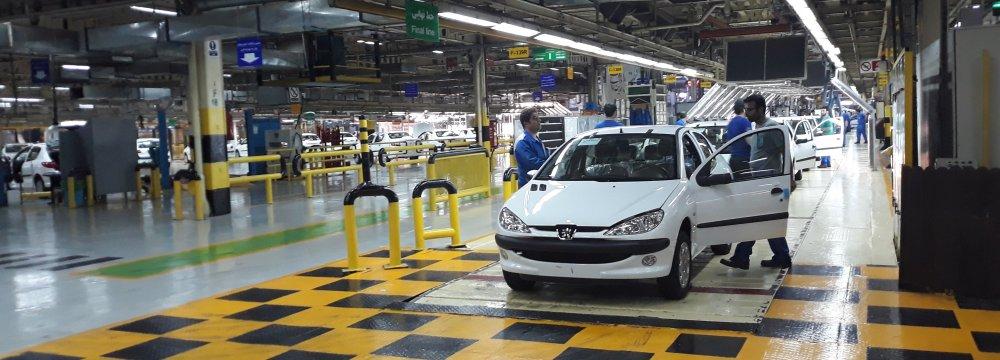 Iran's Auto Output Down 14.6%